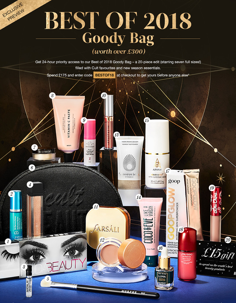 Cult Beauty Best Of 2018 Goody Bag