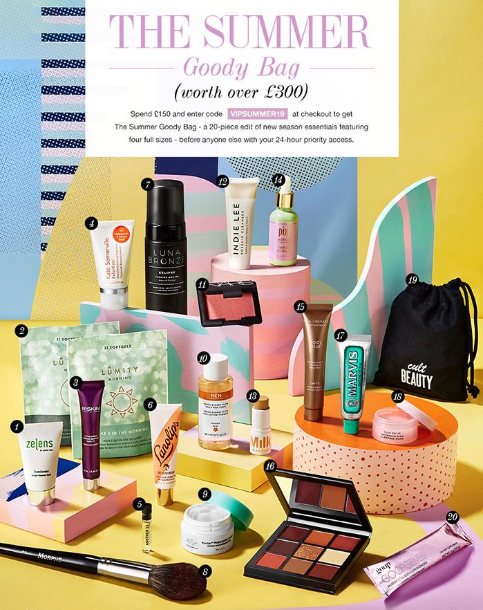 Cult Beauty Goody Bag Summer 2019