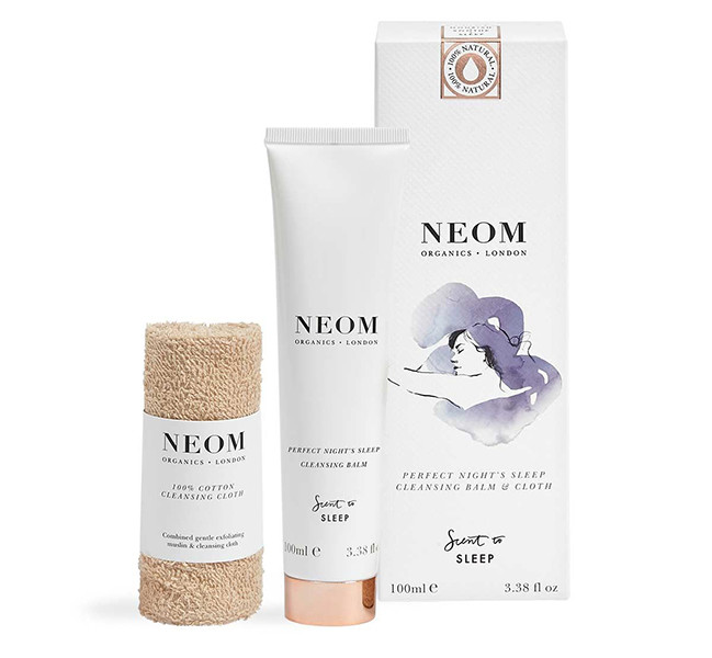 NEOM Perfect Night's Cleansing Sleep Balm & Cloth