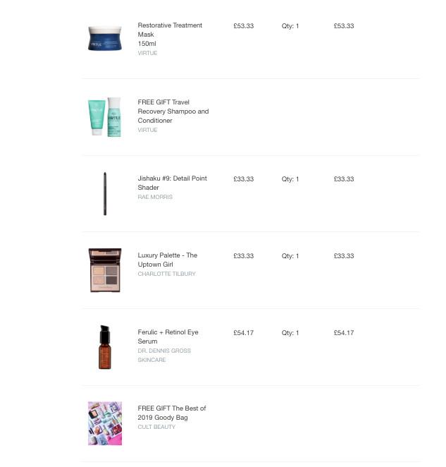 Мои покупки к Cult Beauty Best Of 2019 Winter Goody Bag