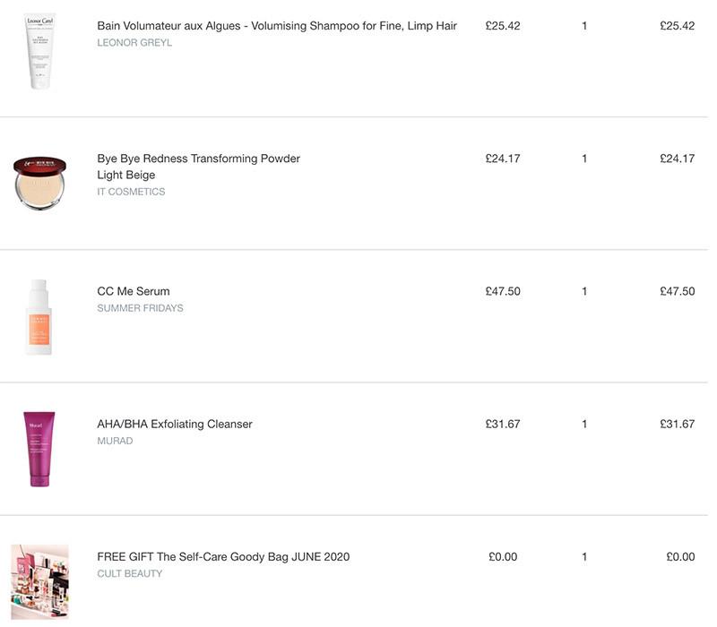 Мои покупки к гуди Cult Beauty Goody Bag Summer 2020