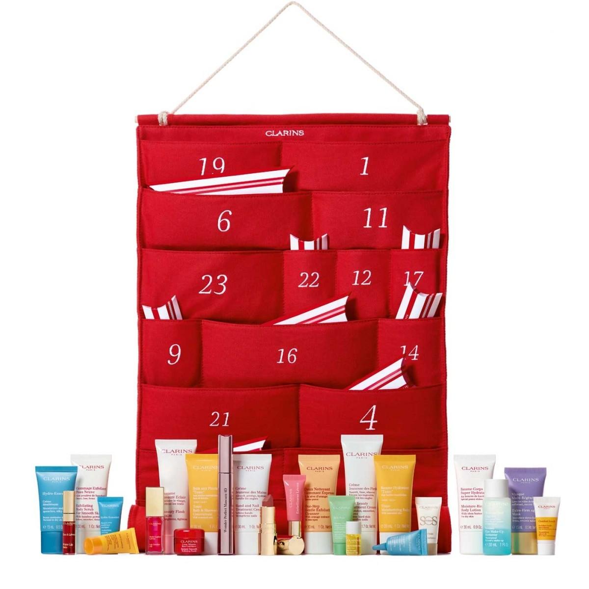 Наполнение Clarins 24 Day Advent Calendar