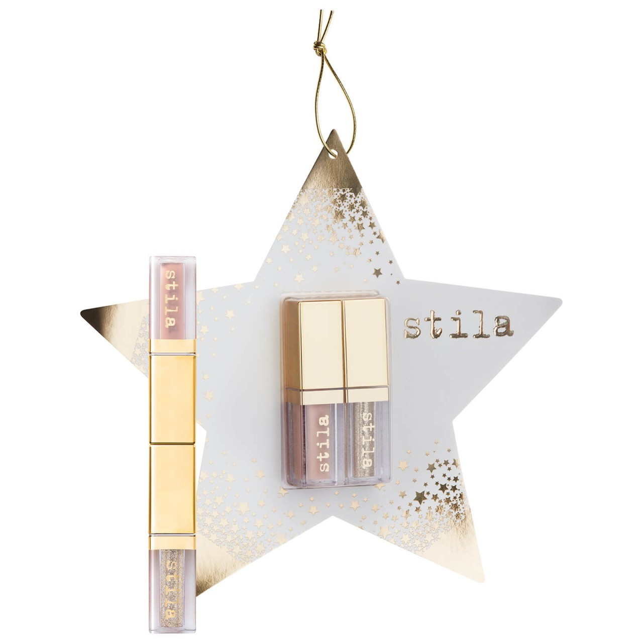 Stila Double Dip Suede Shade and Glitter and Glow Eye Shadow Ornament