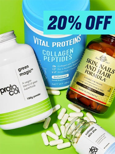 скидка 20% на витамины и пищевые добавки на BeautyBay