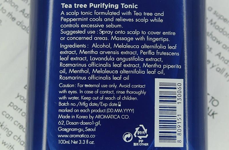 Aromatica Purifying Tonic Tea Tree отзыв