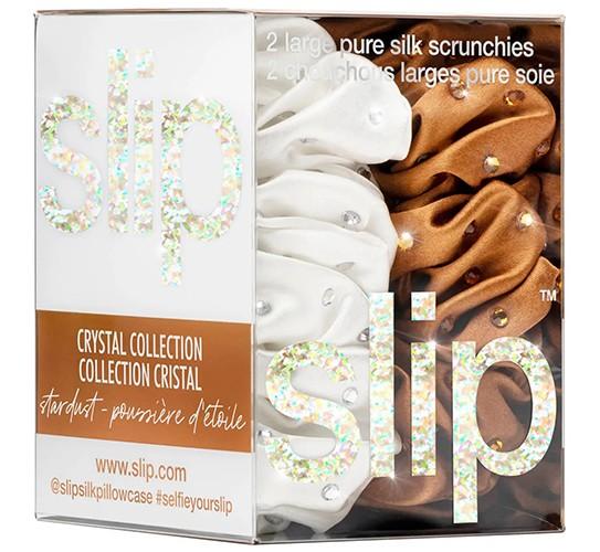 Slip Crystal Scrunchie Set Stardust