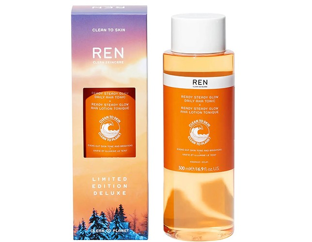 REN Clean Skincare Deluxe Ready Steady Glow Daily AHA Tonic